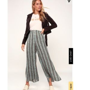 Free People Take Your Tie Off Wide Leg Pants